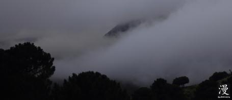 Las nubes en la montaña