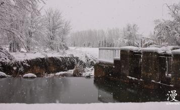 Entrada de agua y desvío a los canales de regadío de la vega